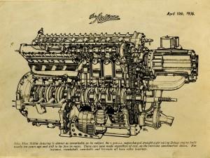 Delage-moteur-1500-cc-300x225 Delage 1500 cc 1926 (3/3) Cyclecar / Grand-Sport / Bitza Divers Voitures françaises avant-guerre