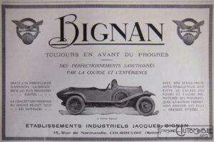 Bignan-pub-300x200 Bignan à Rétromobile Cyclecar / Grand-Sport / Bitza Divers Voitures françaises avant-guerre