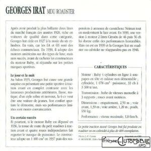 Georges-Irat-MDU-fiche-2-300x300 Georges Irat 5 et 6 cv Cyclecar / Grand-Sport / Bitza Divers Georges Irat