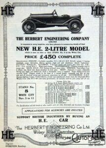 Im19221104MC-Herb-215x300 H.E. Herbert Engineering Co Cyclecar / Grand-Sport / Bitza Divers Voitures étrangères avant guerre