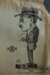 """caricature-Panhard-200x300 le """"who's who"""" automobile... :) Autre Divers"""