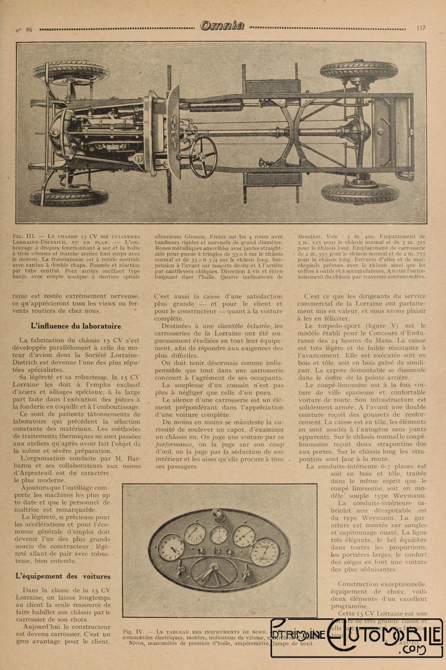 lorraine dietrich 15 cv dans omnia 1927