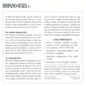 """hispano-k6-fiche-2-300x300 Hispano-Suiza K6 """"demi-berline"""" Van Vooren de 1934 Divers Voitures françaises avant-guerre"""