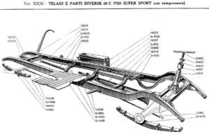6C-1750-SS-Frame-detail-300x192 Alfa Romeo 6C 1750 GS par Figoni 1933 Divers Voitures étrangères avant guerre